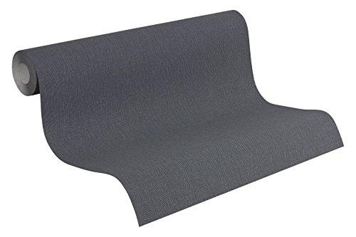 A.S. Création Vliestapete Elegance 3 Tapete mit textilartiger Oberfläche Unitapete 10,05 m x 0,53 m grau Made in Germany 211774 2117-74