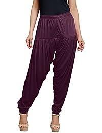Goodtry Women's patiyala Free Size-Dark Violet