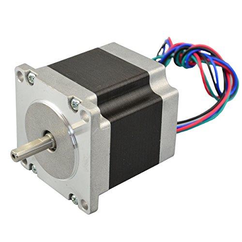STEPPERONLINE Nema 23 Schrittmotor 1.26Nm 2.8A 4-Drähte 6.35mm Schaft DIY CNC Roboter 3D Drucker (Roboter-diy)