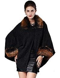 a2afaf148f21 Felljacke Damen Winter Umhang Elegante Mode Vintage Große Größen Thermo  Warm Pelzjacke Classic…