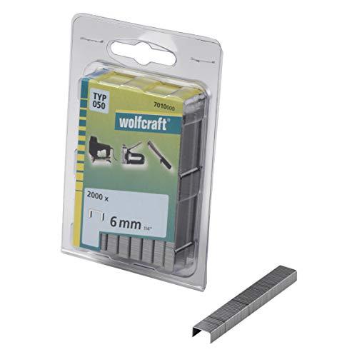 Wolfcraft 7010000 Agrafes large acier trempé type 050 6 mm Lot...