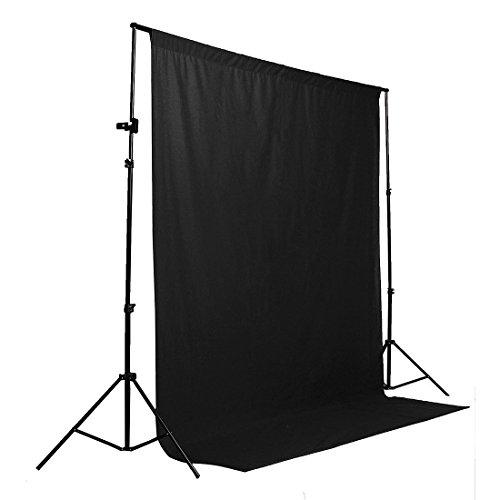 1.8 x 2.7M Black 100% Baumwolle Fotostudio Video Muslin Fotografie-Hintergrund-Hintergrund Collapsible Muslin Hintergrund