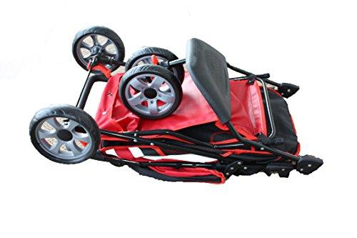 """InnoPet® Hundebuggy Hundewagen Kinderwagen für Hunde rot schwarz klassisch Pet Stroller Modell """"All Terrain"""" Hundekinderwagen Klappfunktion - 2"""