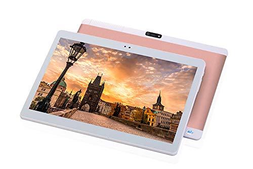 TXVSO 10,1 Zoll Tablet PC Phablet, Google Android 4.4, SIM-Steckplatz für 3G WCDMA/GSM, Quad Core, IPS-Anzeige, 1GB+16GB, 5000mAh, 0,3+2,0MP Dual-Kamera, WLAN, GPS, Bluetooth, Rotgold (3g Android Tablet)