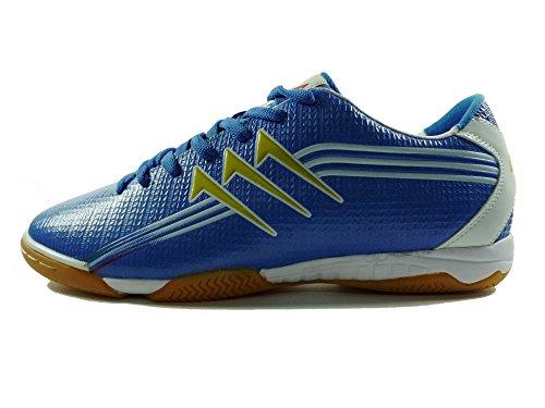 AGLA FIVE INDOOR PROFESSIONAL NEW Chaussures de football avec anti-choc Blanc Cassé - Bleu