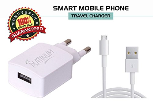BSNL MY phone 35 Compatible Charger Adapter 2 Amp Genuine Original High Speed Certified Wall Charger / Travel Charger / Mobile Charger With 1 Meter Micro USB Cable By Fashion luster, ( 2 Ampere, White),With Usb Slot,White Charger  available at amazon for Rs.249