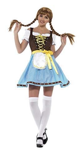Smiffys SMIFFY 'S 49659l Olga Bayerische Kostüm, blau & weiß, L-UK Größe 16-18