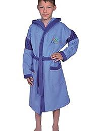 574381b4c3 Mauz Kinder Bademantel Kinderbademantel mit Kapuze One Game Farbe: blau  Größen ...