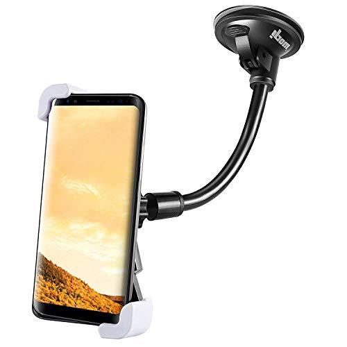 Anti-Shake Handyhalterung fürs auto Windschutzscheibe / Armaturenbrett, Universal kfz handy halterung handyhalter mit super Gel-Saugnapf / Schwanenhals kompatibel mit iPhone x 8 7 7plus 6s 6 Samsung s8 s7 Huawei HTC und mehr.