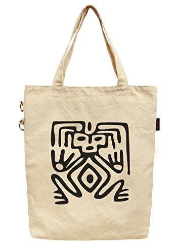 Vietsbay , Damen Tote-Tasche beige Mexican Symbols Mexican Symbol 3
