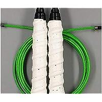 LridSu Cuerda de Alambre de 1 Pieza Que Salta la Cuerda de Salto Antideslizante Profesional Resistente al Desgaste para Entrenamiento de Fitness e intervalo (Color : White, tamaño : Length3m)
