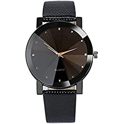 Women Watch,Rawdah Quartz Sport Stainless Steel Dial Leather Band Wrist Watch