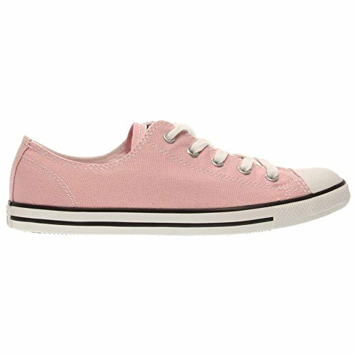 Converse - Chuck Taylor en cuir Oxford Low Top Chaussures en Noir Rose