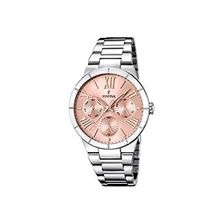 Festina F16716/3 – Reloj de cuarzo para mujer, con correa de acero inoxidable, color plateado