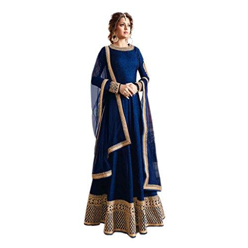Blue COLOR LATEST INDIAN DESIGNER ANARKALI SALWAR KAMEEZ DRESS for women &...