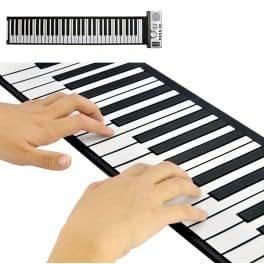 Piano en rouleau souple avec touche programmable