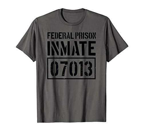 Bundes Gefängnis Insassen Lustige Gefängnis Halloween-Kostüm T-Shirt