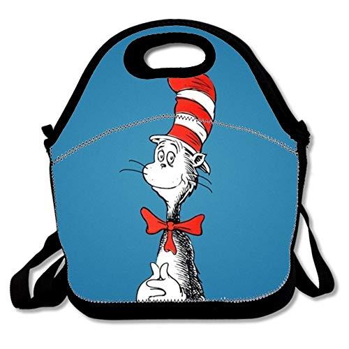 Lunchtasche mit der Katze im Hut, Cartoon-Design, wasserdicht für Kinder, Neopren, The Cat in the Hat Cartoon16, Einheitsgröße