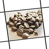 creatisto Badfliesen   Motiv-Sticker Aufkleber Folie Fliesen verschönern Küchen-Folie Küchengestaltung   20x15 cm Erholung Wellness Coffee Beans - 1 Stück