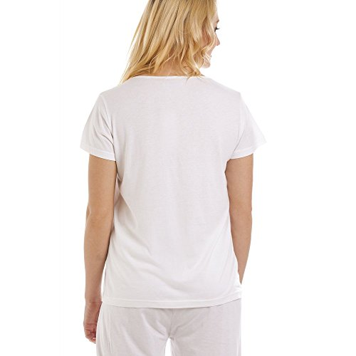 Mezze Deluxe Pigiama Maniche A Bianco Modal Cotone In xwEpZaWpgn