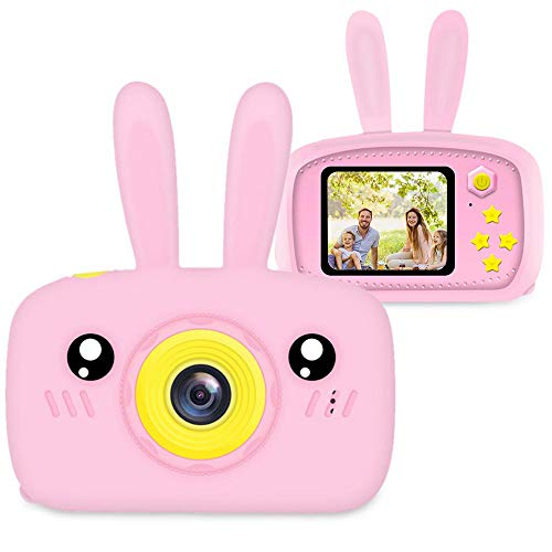 Kids Digital Cameras, Womdee 12MP 2'' Digital Camera for Children with HD 1080P Video Recorder & Lanyard, Anti-Drop Design Mini SLR Supports Small Games & SD Card, Digital Camera Toy for Boys Girls