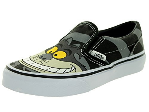 Vans - unisex-child Classic Slip-On Scarpe, ((Disney) Cheshire Cat/Black), 27,5 EU Bambino
