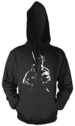 Uglyshirt87 He-Man & Skeletor Männer und Herren Kapuzenpullover | Masters of The Universe Skeletor Geschenk (XXL, Schwarz)