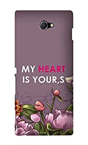 SWAG my CASE Printed Back Cover for Sony Xperia M2