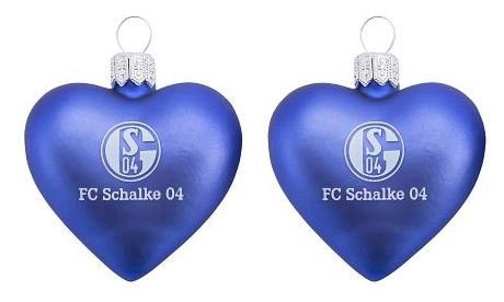 FC Schalke 04 Glas-Herz 2er-Pack