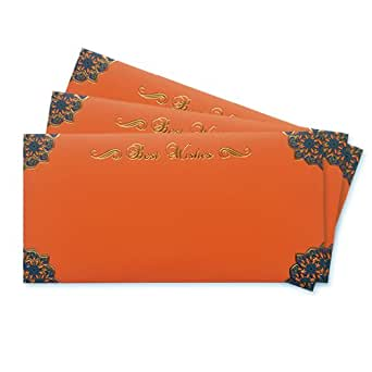 Amazon.in Gift Card - Gift Envelope | Orange | Pack of 3 - Rs.1500