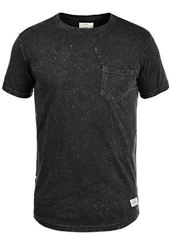 Redefined Rebel Myles Herren T-Shirt Kurzarm Shirt Mit Rundhalsausschnitt Aus 100% Baumwolle, Größe:M, Farbe:Black -