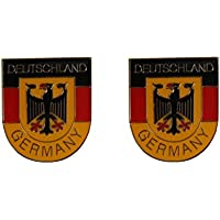 Yantec Freundschaftspin 2er Pack Bayern Schleswig Holstein Pin Anstecknadel Doppelflaggenpin