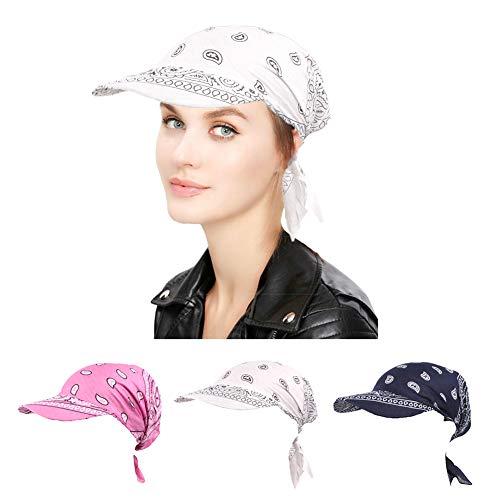 ZYCC Sommer-Damen-Sonne-Hut-Visier-Kappe Chemo Krebs-Kopf-Schal-Hut Faltender Anti-UV Golf-Tennis-Hut (Gruppe 2)