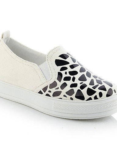 ZQ gyht Scarpe Donna-Mocassini-Casual-Punta arrotondata-Piatto-Sintetico-Nero / Bianco / Dorato , white-us8.5 / eu39 / uk6.5 / cn40 , white-us8.5 / eu39 / uk6.5 / cn40 white-us4-4.5 / eu34 / uk2-2.5 / cn33