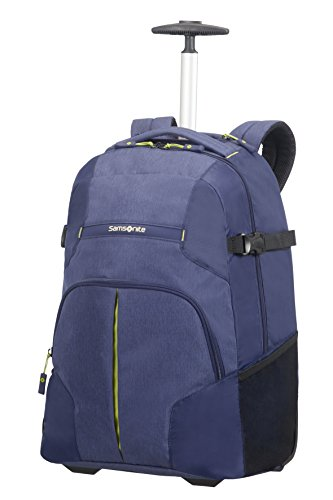 Samsonite Rewind, Laptop Zaino con Ruote Unisex, Blu (Dark Blue), 32.5 liters, XL (55cm-32.5L)