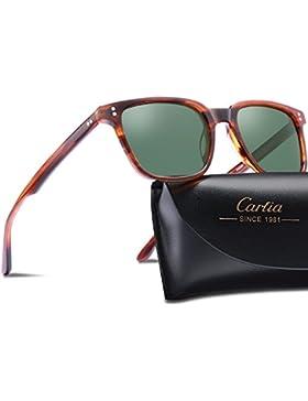 Carfia Gafas de sol para hombre polarizadas Gafas de sol de estilo vintage para conducir Golf de pesca en la playa...