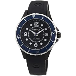 Sector Men's Quartz Watch with Black Dial Analogue Display and Black PU Strap R3251161502