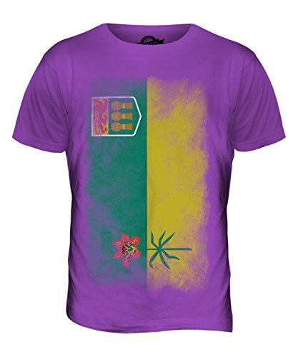 CandyMix Saskatchewan Verblichen Flagge Herren T Shirt Violett