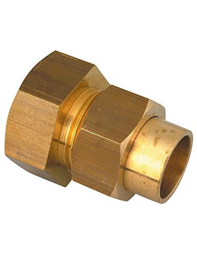 Raccord Femelle union droit 3 pièces à joint sphéro-conique Raccords - 22 - Filetage 26 x 34 mm - Vendu par 1