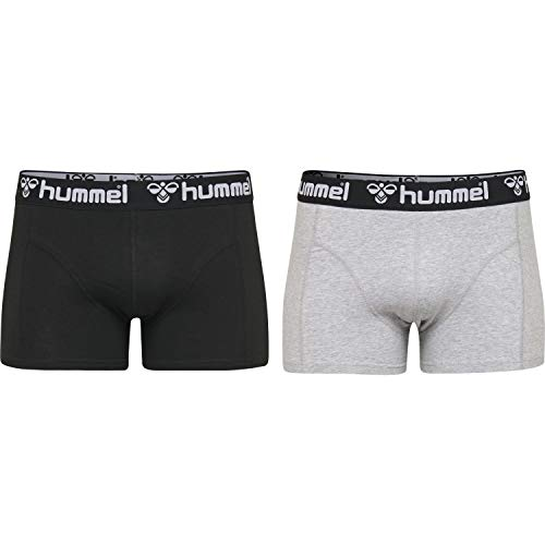 hummel Herren HMLMARS 2 Boxers, Schwarz/Dunkelgrau Melange, L