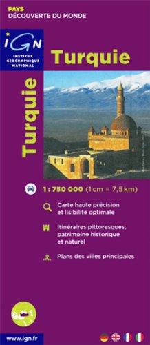 Carte routière : Turquie
