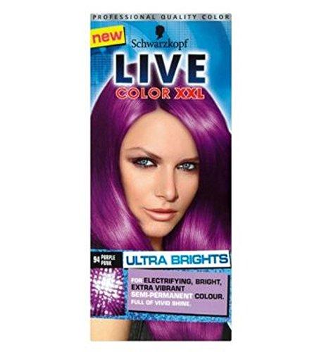 Coloration cheveux temporaire violet
