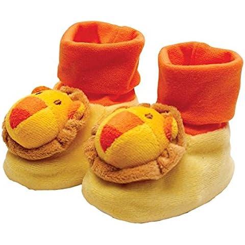 Hobla 800-62 - Pantofole per neonato, motivo: leone, antiscivolo, 6 x 10 x 12 cm - Leone Pantofole