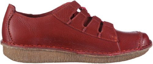 Clarks Funny Story 203367144, Scarpe basse donna Rosso (Rot/Red Leather)