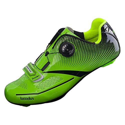 perfk Sneaker da Strada, Scarpe da Ciclismo per Bici da Ciclismo Professionali - Giallo 43