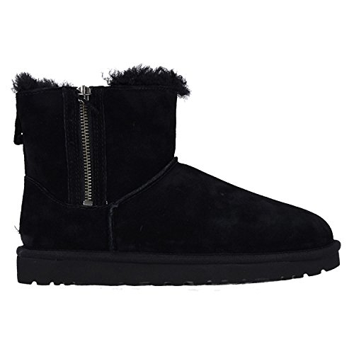 UGG Mini Classic Double Zip Scarpe a collo alto, Donna Nero