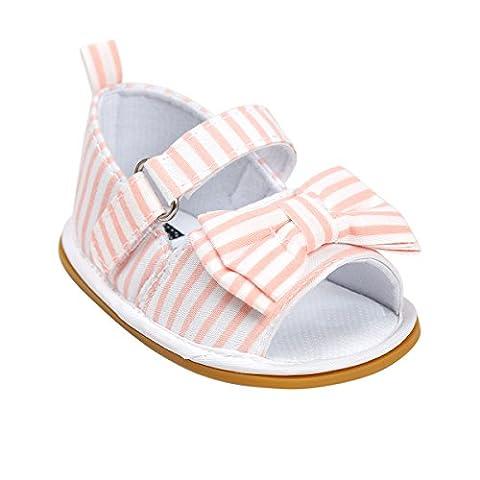 Itaar , Chaussures premiers pas pour bébé (fille) rose/rayures 3-6 mois