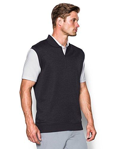 41G60rf6epL - Under Armour 2017 Golf Sweater Fleece Vest Zip Neck Tank Top Mens Slipover Asphalt Heather Small