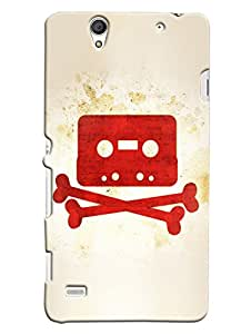 Blue Throat Casetter And Bones Printed Designer Back Cover For Sony Xperia C4