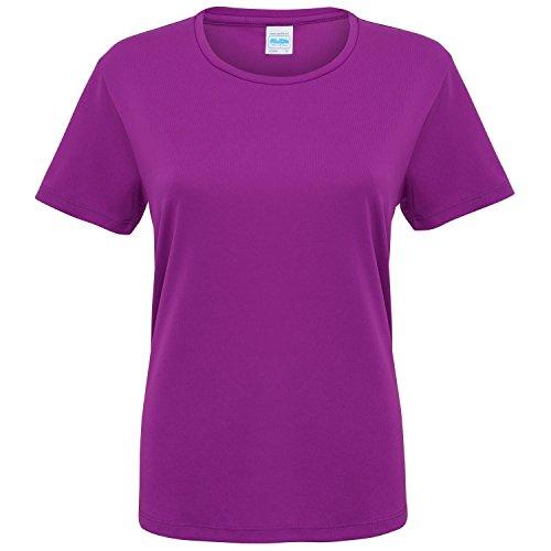 Just Cool Damen Sport T-Shirt unifarben (Xsmall) (Magenta Magic) XS,Magenta Magic Magenta Magic